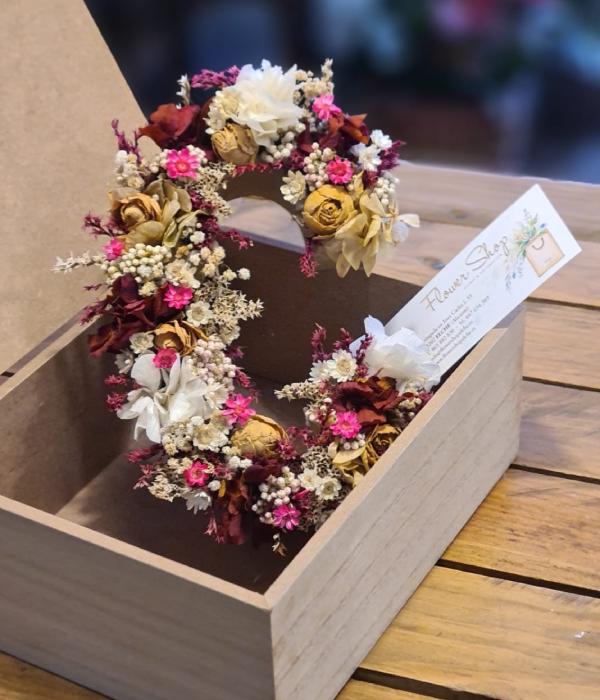 Flower Shop iniciales flor preservada