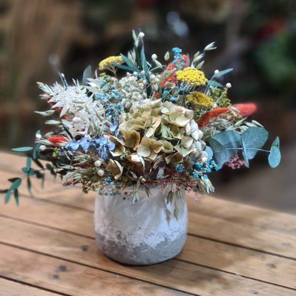 Centro de Flores Ceramica de Loza