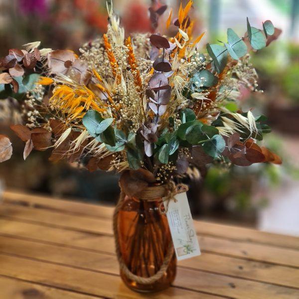 Centro de Flores Preservadas Autumn